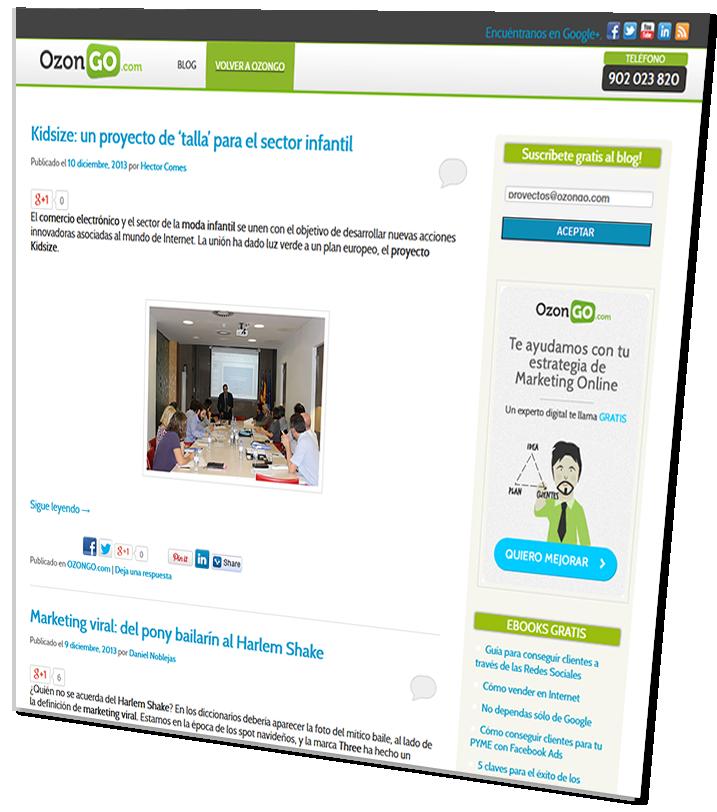 Suscríbete gratis al blog de OZONGO.com